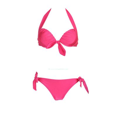 Maillot de bain balconnet à armatures rose