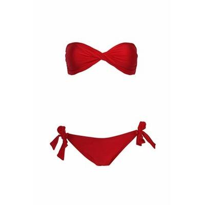 Maillot de bain bandeau rouge