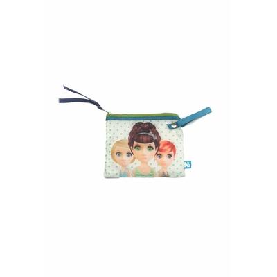 Porte monnaie imprimé poupée N2