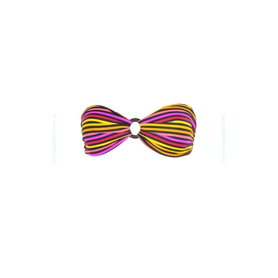 Bandeau riviera océane rayé multicolore - Haut de maillot de bain Kiwi