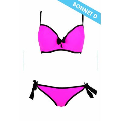 Maillot de bain 2 pièces rose Bonnet D et E