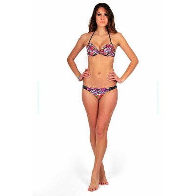 Maillot de bain push-up fleuri multicolore Lily Rose
