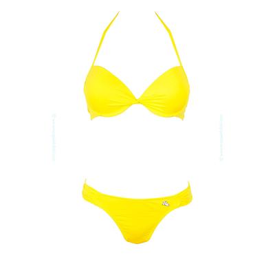 Maillot de bain deux pièces push-up jaune citron Unicool