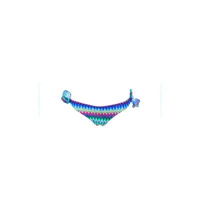 Bas de maillot de bain enfant culotte imprimé ethnique bleu
