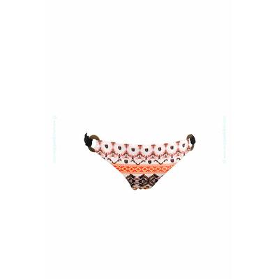Bas de maillot de bain Saha - Culotte à anneaux imprimé ethnique multicolore Indi