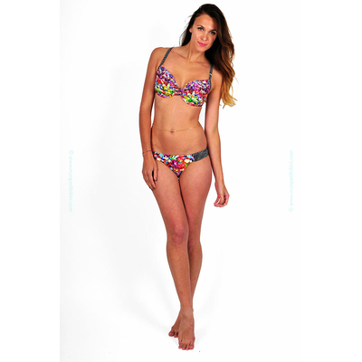 Maillot de bain bonnet D Lilly Rose fleuri multicolore
