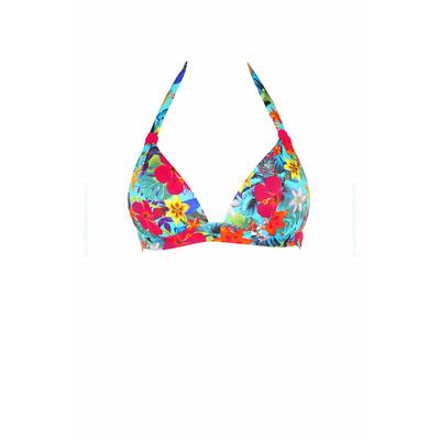 Haut de maillot de bain push up Toucanbay bleu à fleurs