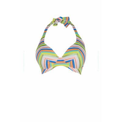 Haut de maillot balconnet rayé multicolore Beach Candy (Haut)