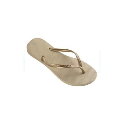 Havaianas Adulte - Tongs Slim beige sable et doré