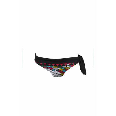 Culotte à revers imprimé multicolore noir Africain (Bas)
