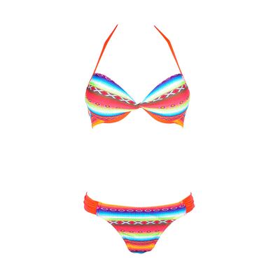 Maillot de bain 2 pièces push up Acapulco multicolore