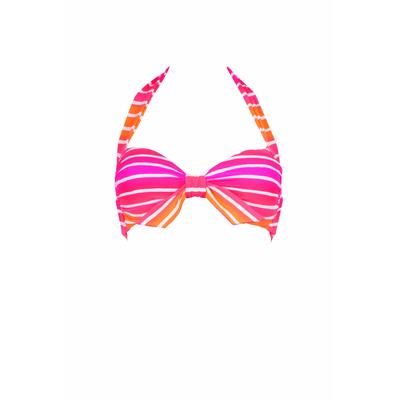 Maillot de bain foulard Miami Stripe rose rayé (haut)