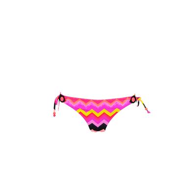 Bikini violet Soundwave imprimé géométrique multicolore (Bas)