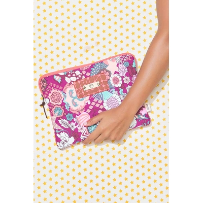 Housse protectrice Floral iPad Sleeve imprimé rose