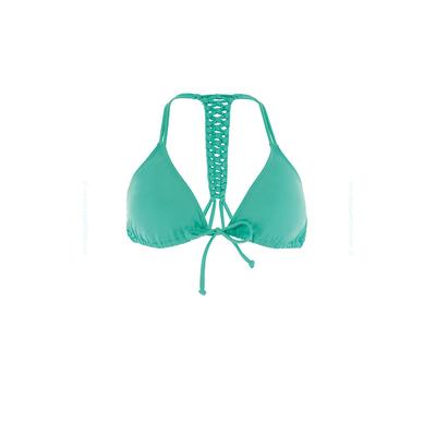 Haut de maillot deux pièces triangle Hippie Chic Top vert émeraude