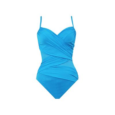 Maillot de bain 1 pièce bleu turquoise gainant Mystify