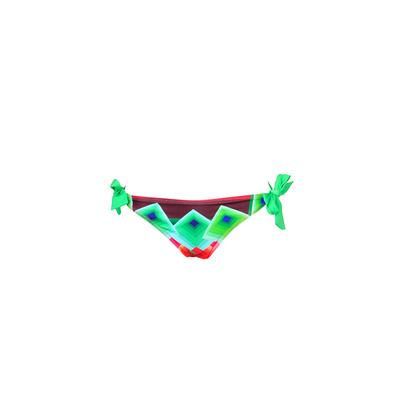 Maillot de bain Codelic vert imprimé graphique (Bas)