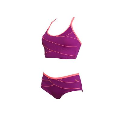Maillot de piscine deux pièces violet modelant Kôh