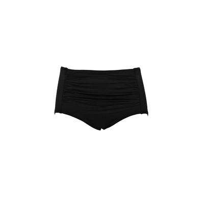 Maillot de bain culotte taille haute noir (Bas)