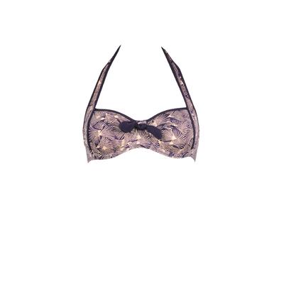 Haut de maillot de bain grand bonnet Sarong Song violet