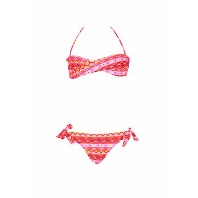 Maillot de bain deux pièces bandeau filles Happache multicolore