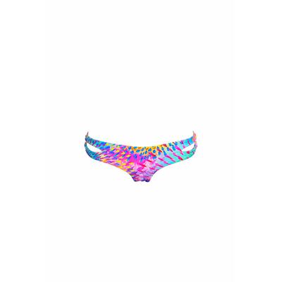 Bikini culotte échancrée Bajo imprimé exotique (bas)