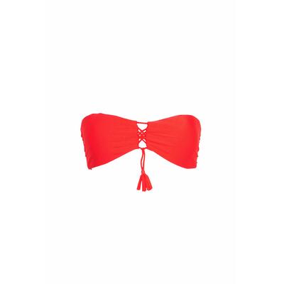 Maillot de bain bandeau Cuba Libre rouge (haut)