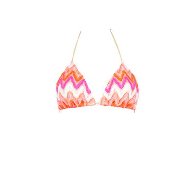 Maillot de bain triangle rose Flamingo Beach (haut)