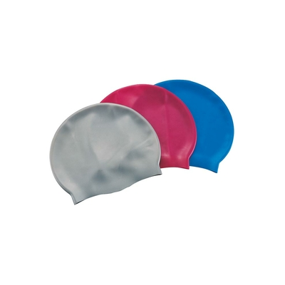 Bonnet de natation en silicone multicolore