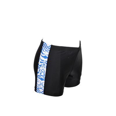 Short de plage homme noir et bleu