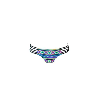 Mon Itsy Bikini Ethnique - Maillot de bain culotte multicolore multi-liens (Bas)