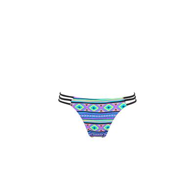 Mon Mini Itsy Bikini Ethnique - Maillot de bain tanga à liens multicolore (Bas)