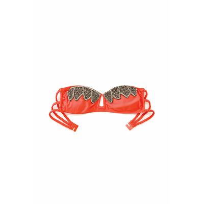 Maillot bandeau Abby corail (Haut)