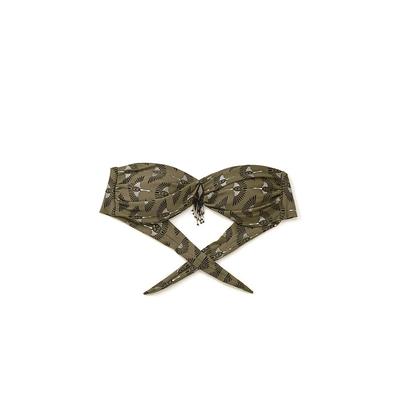 Maillot de bain bandeau vert kaki Osiris - Amenapih by Hipanema (haut)