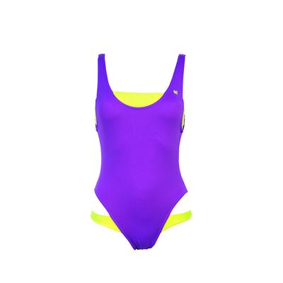 Teens - Maillot de bain une pièce violet fluo Splash