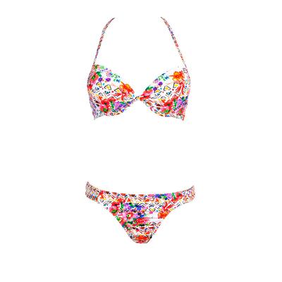Maillot de bain push-up Nosybe fleuri multicolore