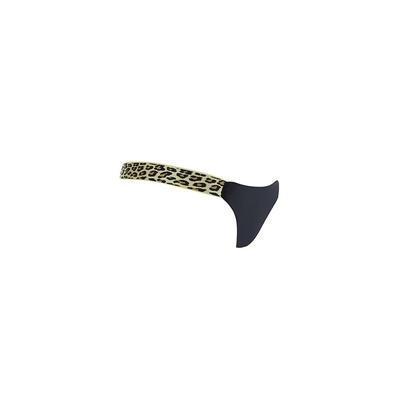 Maillot de bain tanga noir et léopard (Bas)