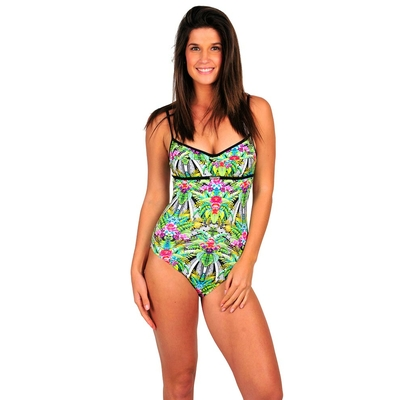 Maillot de bain une pièce vert Tropical