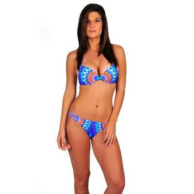 Maillot 2 pièces Push-up bleu Sun Power
