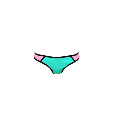Mon Bikini Néoprène - Maillot de bain Vert et rose (Bas)