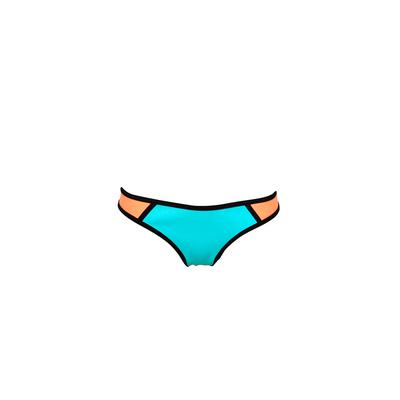 Mon Bikini Neoprene - Maillot de bain bleu néon et corail (Bas)