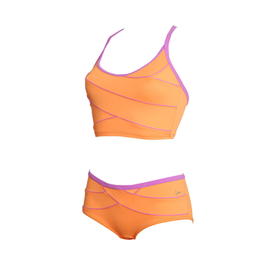Maillot de bain deux pièces modelant orange Koh