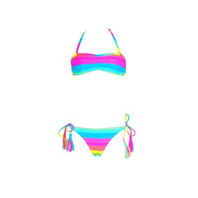 Maillot de bain enfant bandeau deux pièces multicolore