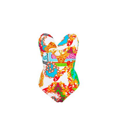 Maillot de bain une pièce bustier multicolore