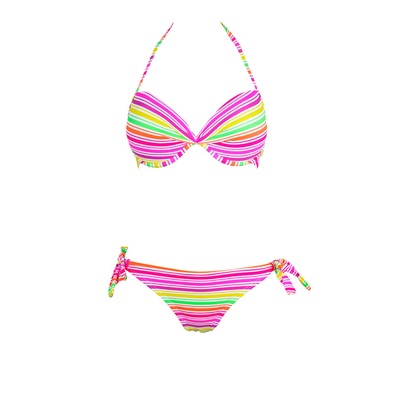 Bikini push-up balconnet multicolore 2 pièces