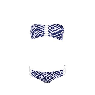 Maillot de bain 2 pièces bandeau  Spello bleu