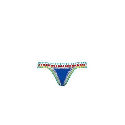 Bikini crochet bleu roi multicolore (Bas)