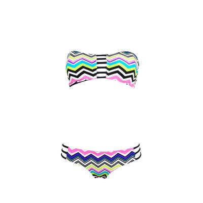 Maillot 2 pièces tanga Fermo multicolore