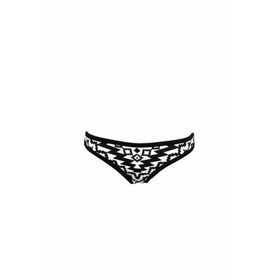 Bas de maillot de bain néoprène noir et blanc Kasbah