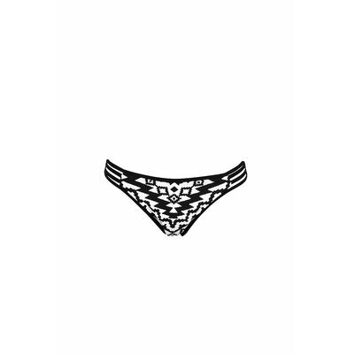 Maillot de bain culotte noire et blanche Kasbah (bas)